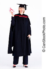 Happy woman celebrating graduation