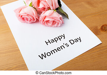 Happy woman day concept