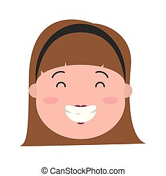 happy woman face
