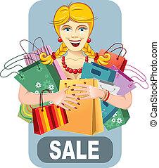 Happy woman on sale