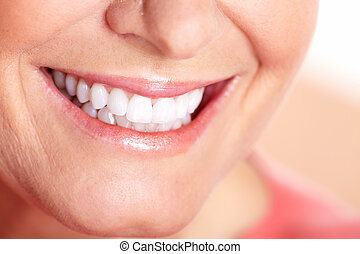 Happy woman smile.