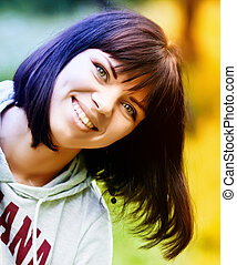 Happy woman - Beautiful happy young woman with cute smile