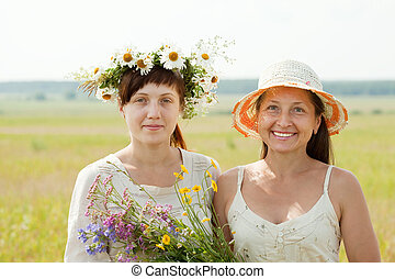 Happy   woman wirh adult daughter