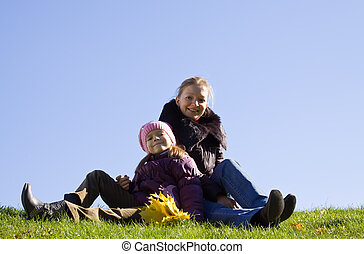 Happy woman with daughter s