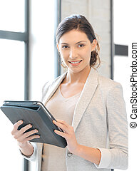woman with tablet pc computer
