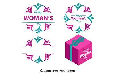 Happy Woman's Day Template Set