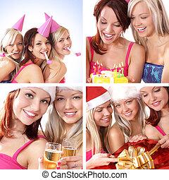 Happy women celebrating birthday