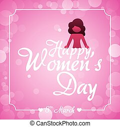 happy womens day bubbles background