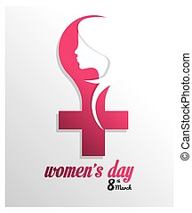 Happy Womens day design - Womens day concept with ornament...