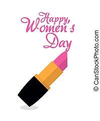happy womens day lipstick pink