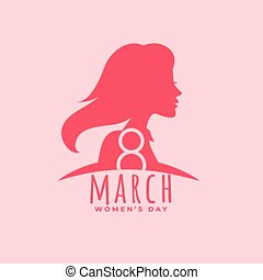 happy women's day poster design in flat style