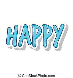 happy word isolated icon