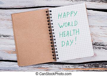 Happy world health day concept.