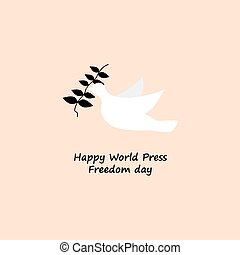 happy world press freedom day concept vector