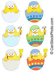 Happy Yellow Chickens