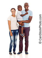 young african family full length portrait