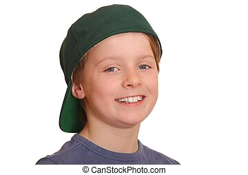 Happy young boy - Portrait of a happy young boy with...