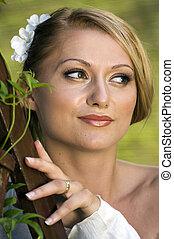 Happy young bride