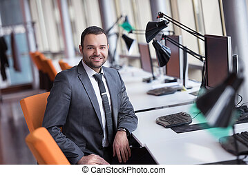 business man - happy young business man portrait in bright ...