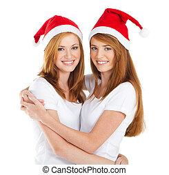 Christmas teen girls