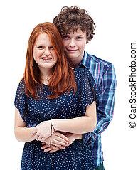 Happy young couple portrait