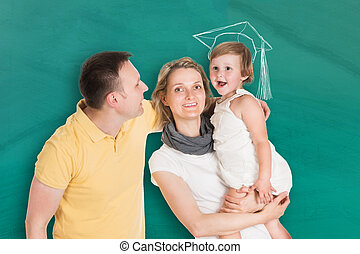 Happy Young Family Together With Kids