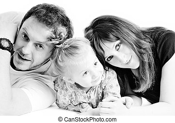 happy young family together