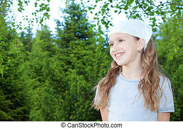 Happy young girl portrait.