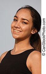 Happy Young Girl Teen