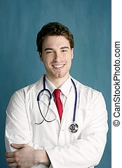happy young male doctor man smile handsome