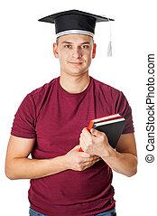 Happy young man at graduation
