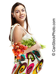 Happy young pregnant woman