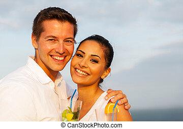happy young romantic couple