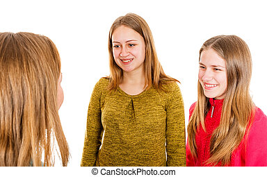 Happy young sisters - Photo of happy young sisters on...