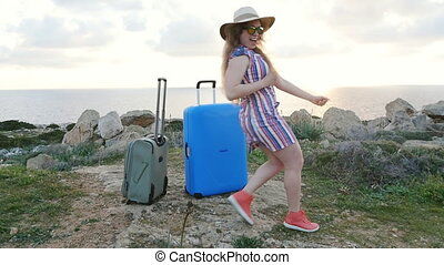 Happy young woman on vacation