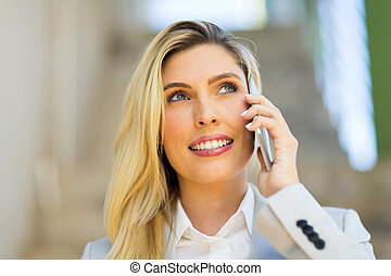 young woman talking on mobile phone