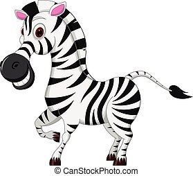 Happy Zebra cartoon