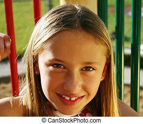 Happy kid in park