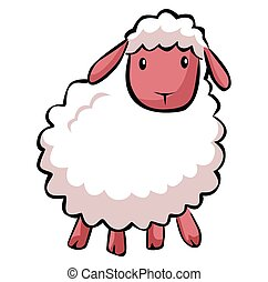 Hapy sheep cartoon