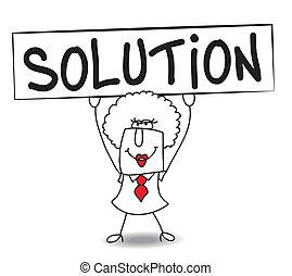 har, løsning, brenda