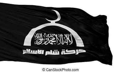Harakat Sham Al Islam Flag Isolated Seamless Loop - Harakat ...
