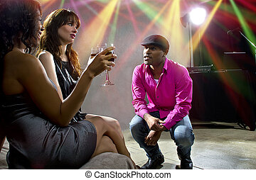Harassment at a Nightclub - pickup artists harrassing women...