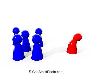 Harassment / Mobbingat - Some figures symbolizing harassment...