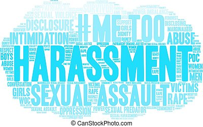 Harassment Word Cloud - Harassment word cloud on a white ...