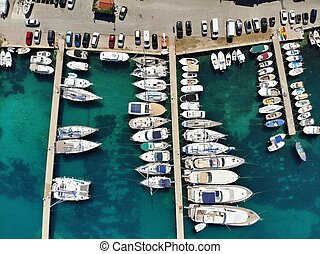 Harbor aerial view