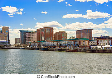 Harbor at Boston Wharf in Charles River Boston
