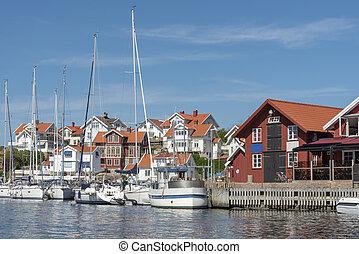 Harbor at Mollosund in Sweden