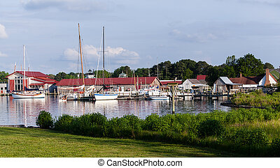 Harbor at St Michaels on Chesapeake Bay - Yachts and boats...