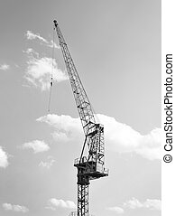 Freight transportation - Harbor crane or freight crane at a...