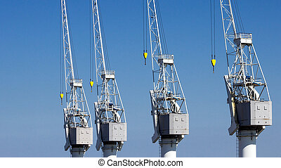 Harbor cranes port Antwerp